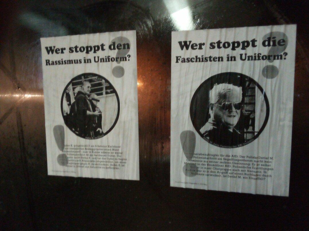 Plakataktion Polizeiwachen